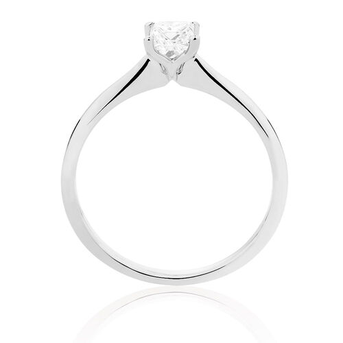 Evermore Colorless Solitaire Engagement Ring with a 1/2 Carat Diamond in 14kt White Gold