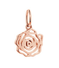 10ct Rose Gold Rose Mini Pendant