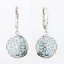 Online Exclusive - Blue Enamel Drop Earrings in Sterling Silver