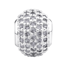 Cubic Zirconia & Sterling Silver Pave Charm