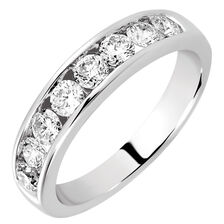 Wedding Band with 0.80 Carat TW of Diamonds in 14ct White Gold
