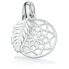 Dream Catcher Dangle Charm in Sterling Silver