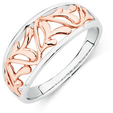 Filigree Ring in 10kt White & Rose Gold