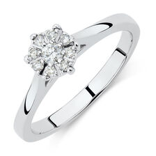 Engagement Ring with 0.15 Carat TW of Diamonds in 10kt White Gold