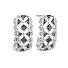City Lights Drop Earrings with 1/4 Carat TW of Enhanced Black Diamonds in Sterling Silver