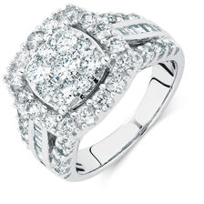 Engagement Ring with 2 5/8 Carat TW of Diamonds in 14kt White Gold