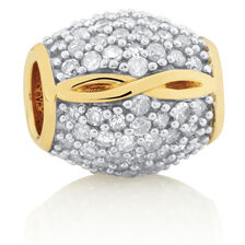 Infinity Charm with 1.05 Carat TW of Diamonds in 10ct Yellow Gold