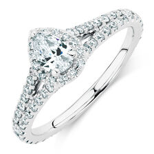 Michael Hill Designer Allegro Engagement Ring with 1 Carat TW of Diamonds in 14kt White Gold
