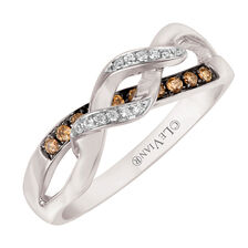 Le Vian Ring with 1/6 Carat TW of Chocolate & Vanilla Diamonds in 14kt White Gold