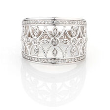 Online Exclusive - Ring with 1/4 Carat TW of Diamonds in 10kt White Gold