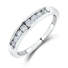 Wedding Band with 1/3 TW of Diamonds in 14kt White Gold