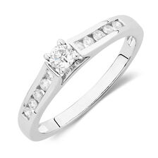 Online Exclusive - Engagement Ring with 1/4 Carat TW of Diamonds in 14kt White Gold