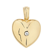 Heart Enhancer set with a 1/10 Carat TW Diamond in 10kt Yellow Gold