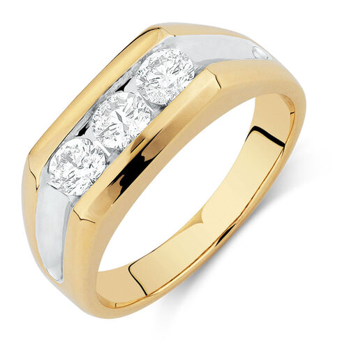 s ring with 1 carat tw of diamonds in 10ct yellow gold