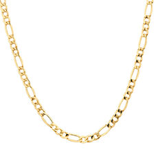 "50cm (20"") Figaro Chain in 10kt Yellow Gold"