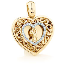 Infinitas Enhancer Pendant with Diamonds in 10ct Yellow Gold