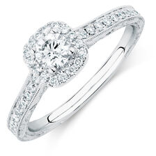 Michael Hill Designer Amoroso Engagement Ring with 0.70 Carat TW of Diamonds in 14kt White Gold