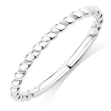 Rope Stack Ring in 10ct White Gold