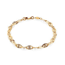 "19cm (7.5"") Patterned Bracelet in 10ct Yellow Gold"