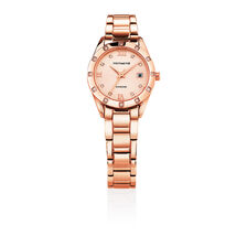 Ladies Watch With Diamonds in Rose Gold Tone Stainless Steel