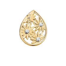 Diamond Set Daisy Mini Coin Pendant in 10ct Yellow Gold