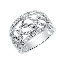 Infinitas Ring with 1/2 Carat TW of Diamonds in 10kt White Gold