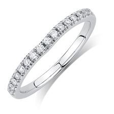 Evermore Colorless Wedding Band with 1/6 TW of Diamonds in 14kt White Gold