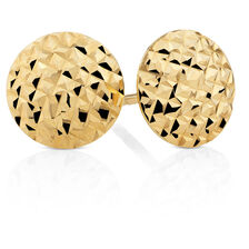 Stud Earrings in 10kt Yellow Gold