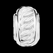 Sterling Silver Twist Pattern Charm