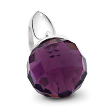 Purple Glass & Sterling Silver Wild Hearts Dangle Charm