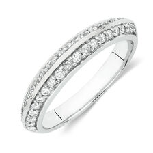 Wedding Band with 3/8 Carat TW of Diamonds in 18kt White Gold