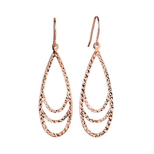 Teardrop Drop Earrings in 10ct Rose Gold