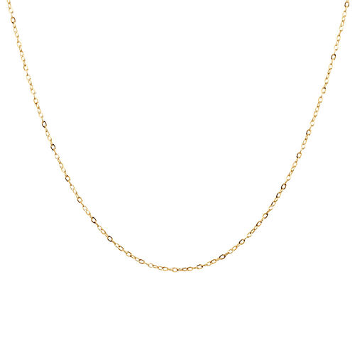 """40cm (16"""") Cable Chain in 10kt Yellow Gold"""