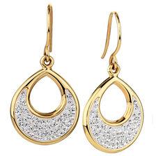 Drop Earrings in 10kt Yellow Gold & Sterling Silver