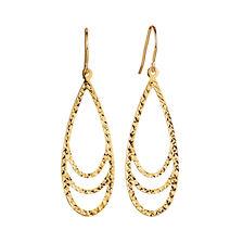 Teardrop Drop Earrings in 10kt Yellow Gold