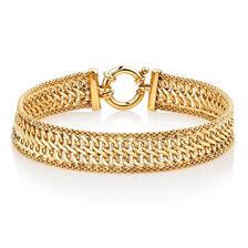"Online Exclusive - 19cm (7.5"") Bolt Bracelet in 10ct Yellow Gold"
