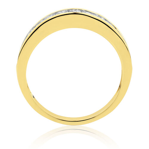 Wedding Band with 1 Carat TW of Diamonds in 10kt Yellow Gold