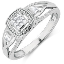 Promise Ring with 1/8 Carat TW of Diamonds in Sterling Silver