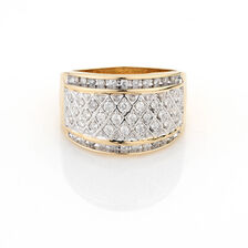 Online Exclusive - Ring with 1/2 Carat TW of Diamonds in 10ct Yellow Gold