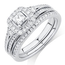 Online Exclusive - Bridal Set with 1 Carat TW of  Diamonds in 14kt White Gold