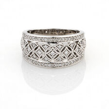 Online Exclusive - Vintage Ring with 0.33 Carat TW of Diamonds in 10ct White Gold
