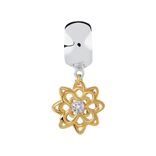 Diamond Set, 10ct Yellow Gold & Sterling Silver Stopper