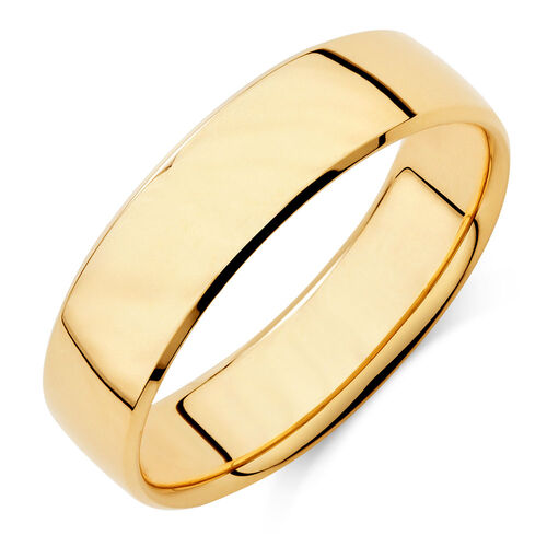 mens wedding band in 10ct yellow gold