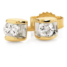 Online Exclusive - Stud Earrings with Diamonds in 10ct Yellow Gold