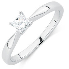 Evermore Colourless Solitaire Engagement Ring with a 1/3 Carat Diamond in 14kt White Gold