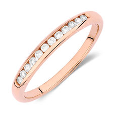 Wedding Band with 0.15 Carat TW of Diamonds in 10ct Rose Gold