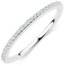 Michael Hill Designer Allegro Wedding Band with 0.23 Carat TW of Diamonds in 14kt White Gold