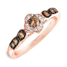 Le Vian Ring with 3/8 Carat TW of Chocolate & Vanilla Diamonds in 14kt Rose Gold