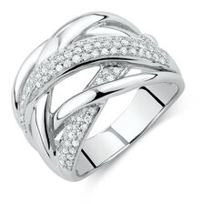 Online Exclusive - Ring with 0.40 Carat TW of Diamonds in 10ct White Gold