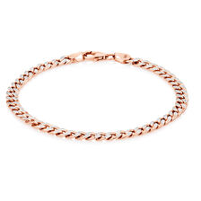 "19cm (7.5"") Curb Bracelet in 10kt White & Rose Gold"